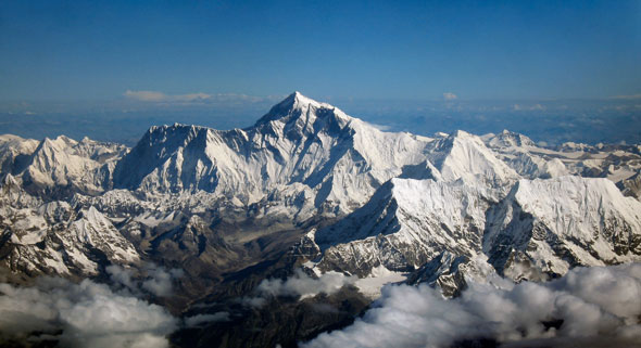mt everest as seen from drukair