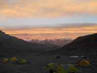 evening sky at base camp s